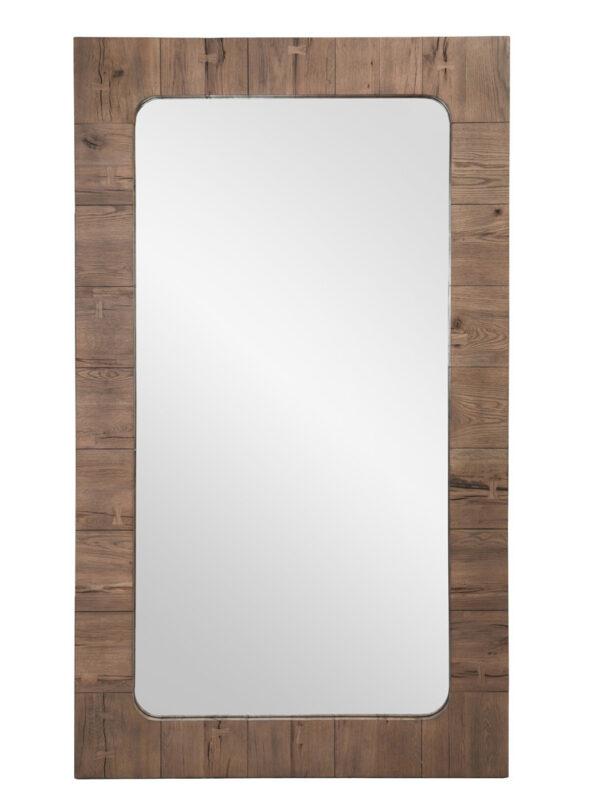 tall reclaimed wood floor mirror