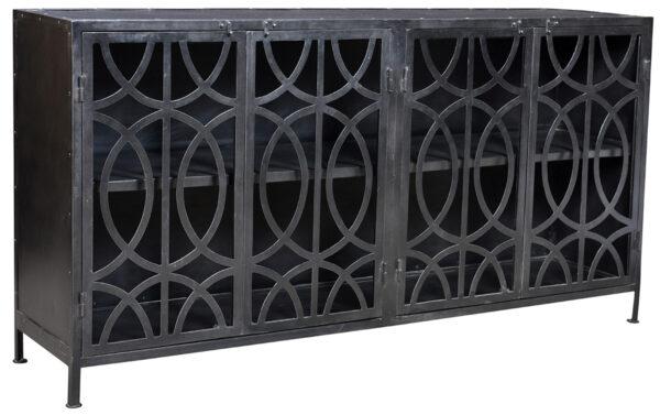 Black metal sideboard
