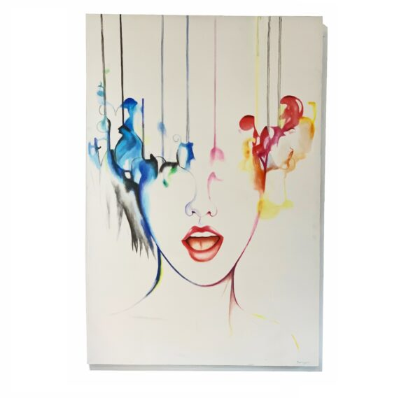abstract portrait of women in melting colors