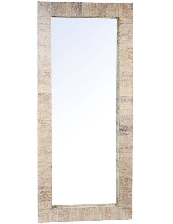 natural reclaimed wood mirror