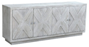 Grayson White Wash Wood Sideboard