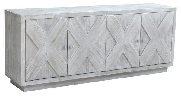 white wash wood sideboard