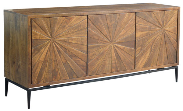 reclaimed medium brown wood sideboard