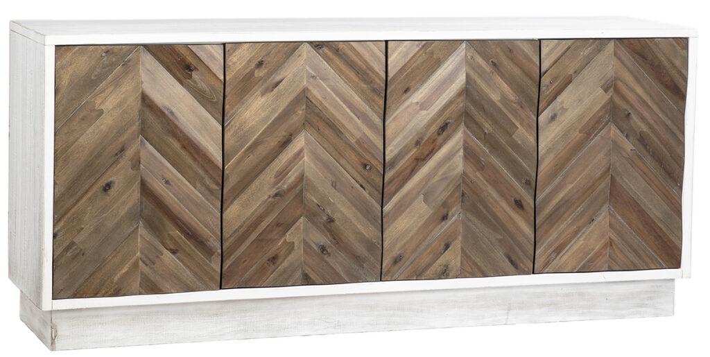 71″ Pine Sideboard with Chevron Doors