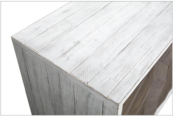 chevron door design sideboard top view