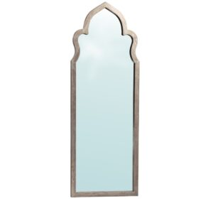 Maroc Tall Grey Oak Floor Mirror