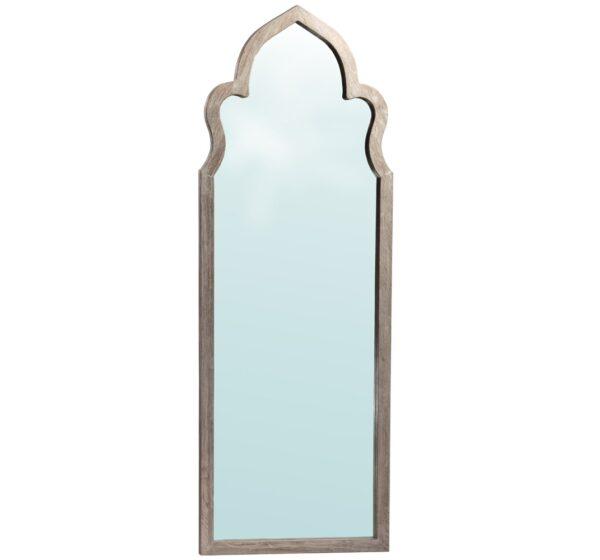 grey moorish design wood mirror