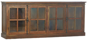 Baker Reclaimed Wood Glass Sideboard