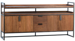 Allana Reclaimed Wood and Iron Sideboard