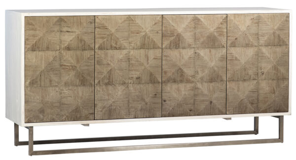 reclaimed wood sideboard with white body