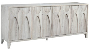 Montes White Wash Wood Sideboard