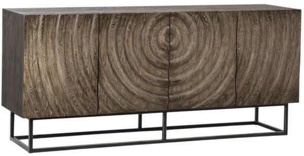 Oak sideboard with iron base