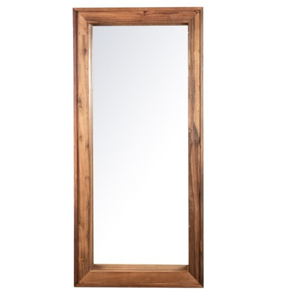 tall reclaimed wood mirror