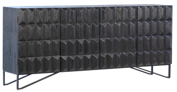 black carved wood sideboard