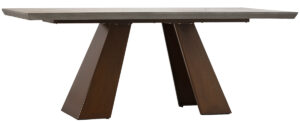 79″ Concrete and Steel Dining Table Indoor/Outdoor use