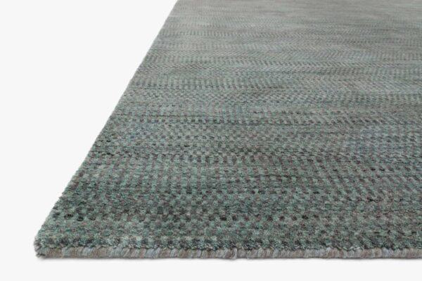 Aqua and Grey large area rug close up