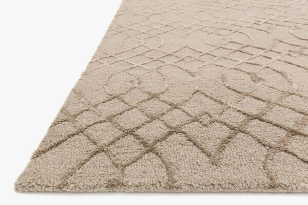 large taupe area rug close up