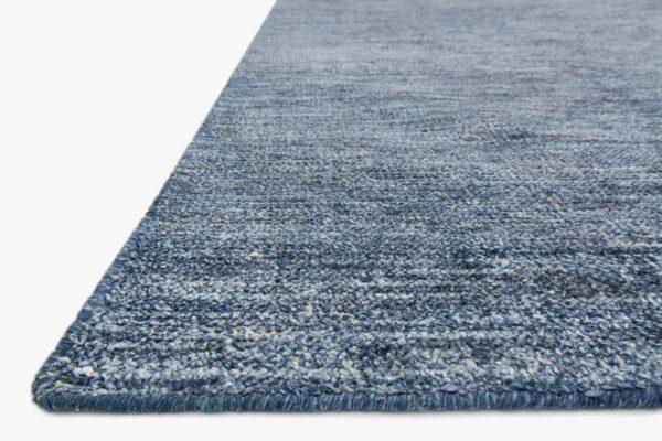 denim blue area rug close up