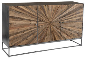 Hasse Reclaimed Wood and Steel Sideboard