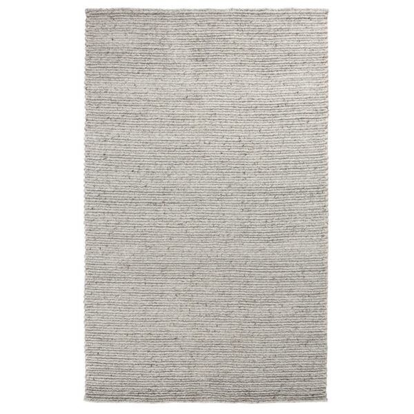 light grey woven rug