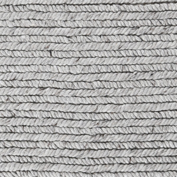 light grey woven rug close up