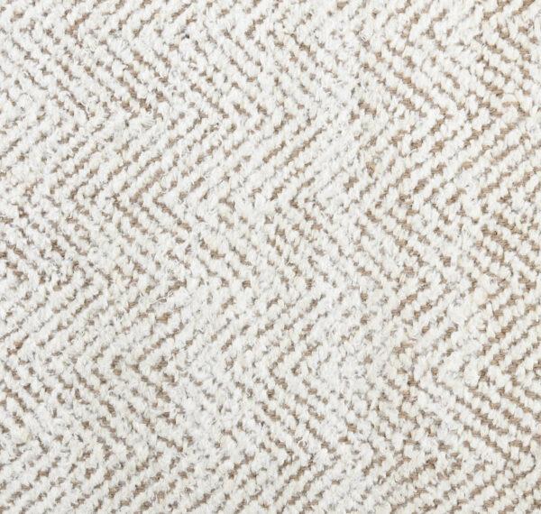 herringbone ivory jute rug close up