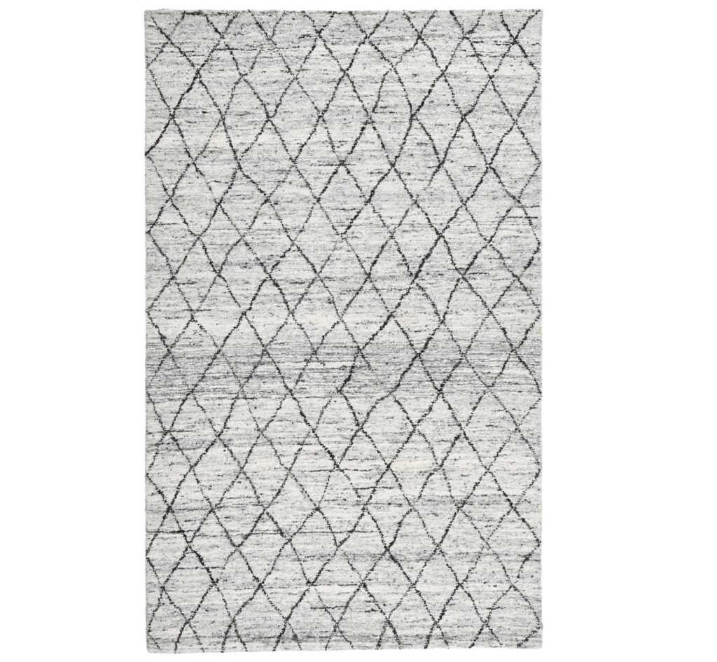 Hastings Ivory Diamond Patterned Wool Rug