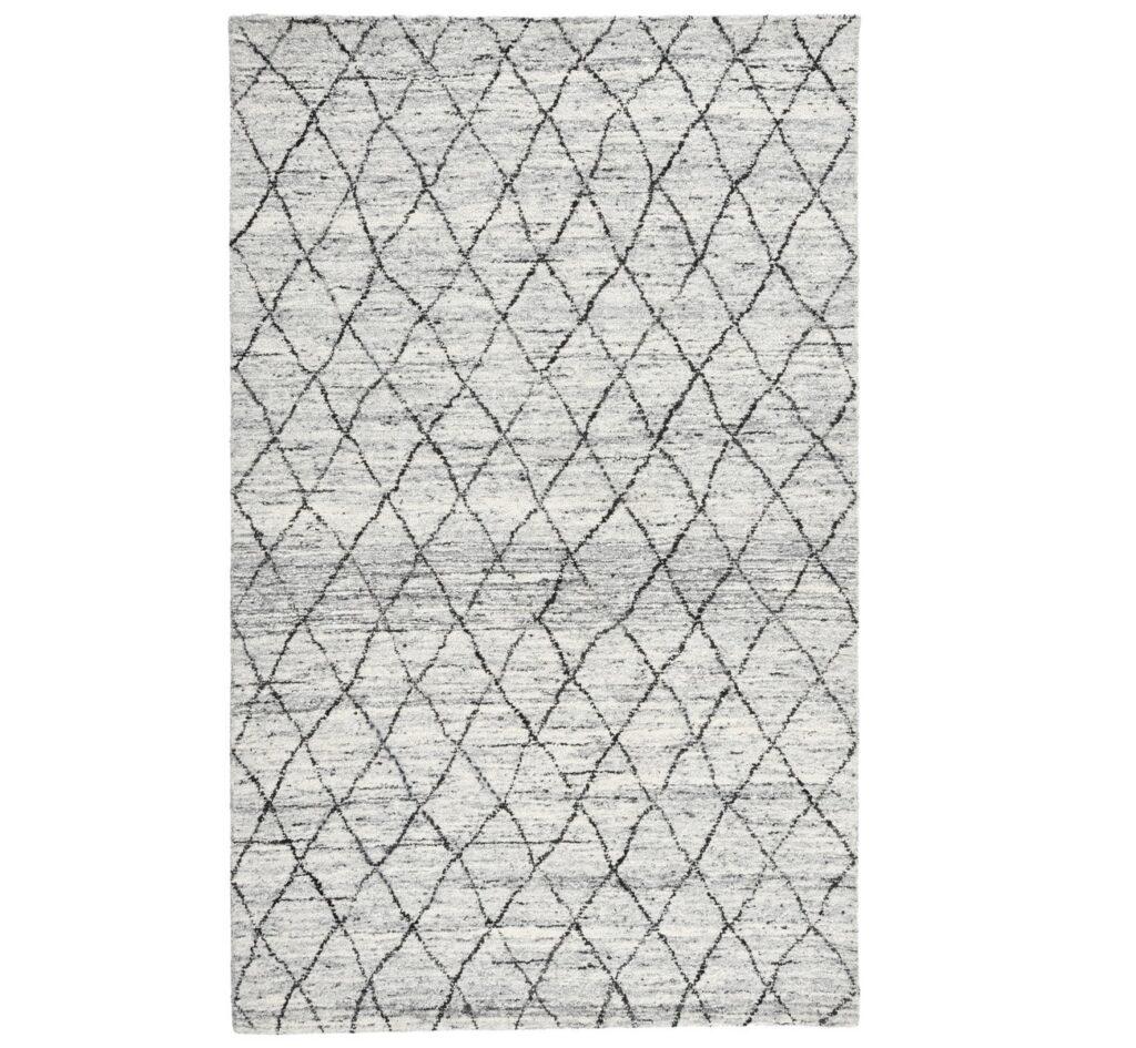 Hastings Ivory Diamond Patterned Wool Rug