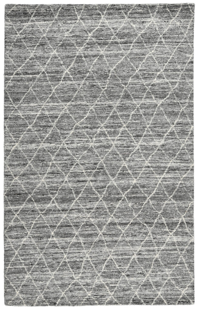 Hastings Gray Diamond Patterned Wool Rug