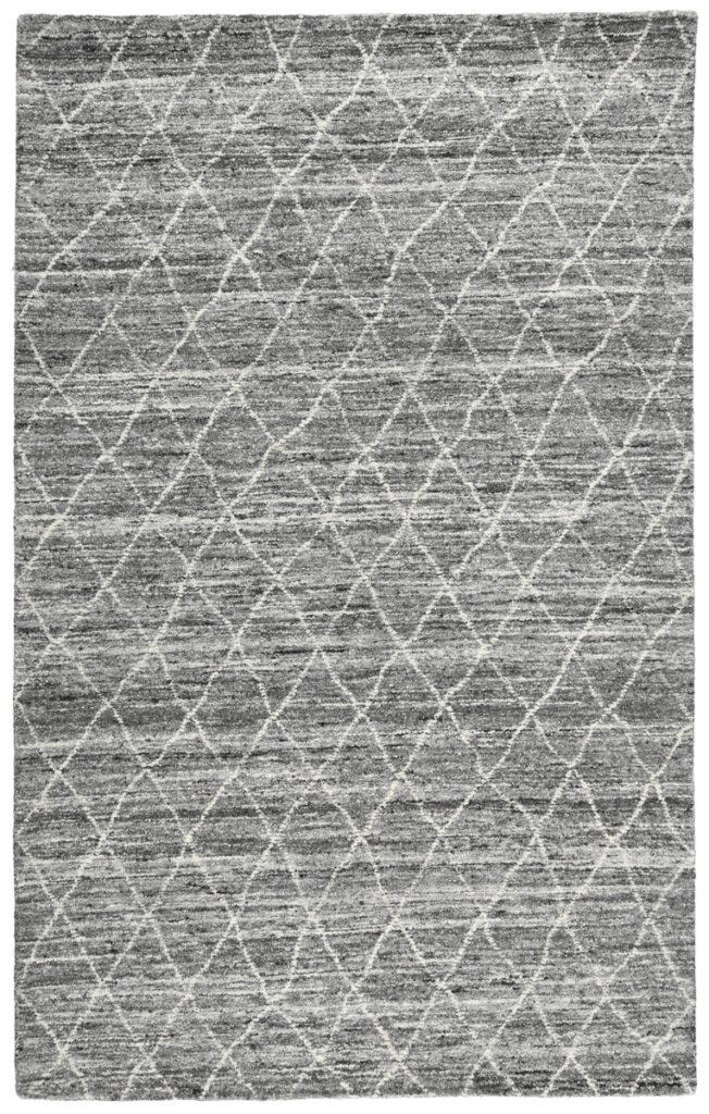 Hastings Gray Diamond Patterned Wool Rug