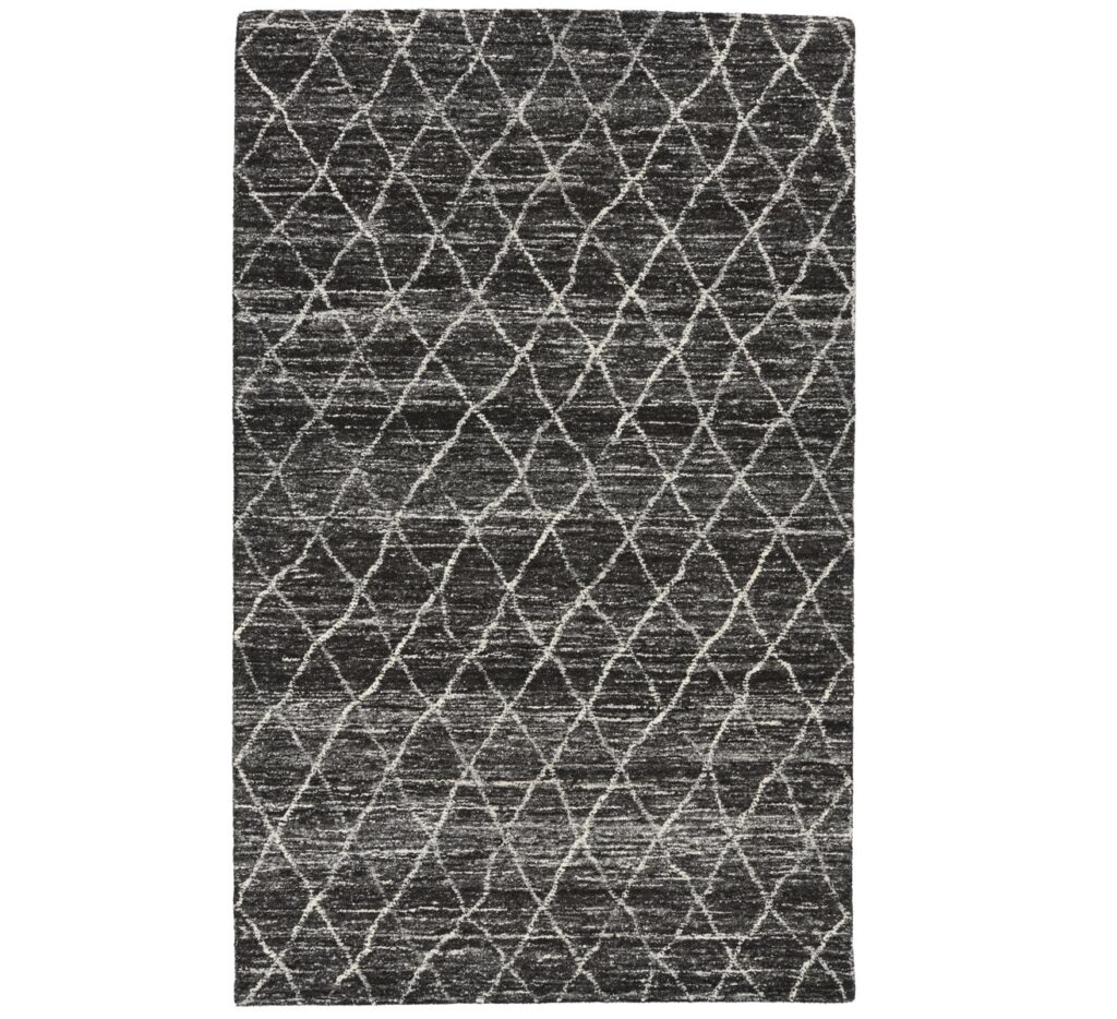 Hasting Charcoal Diamond Pattern Wool Rug