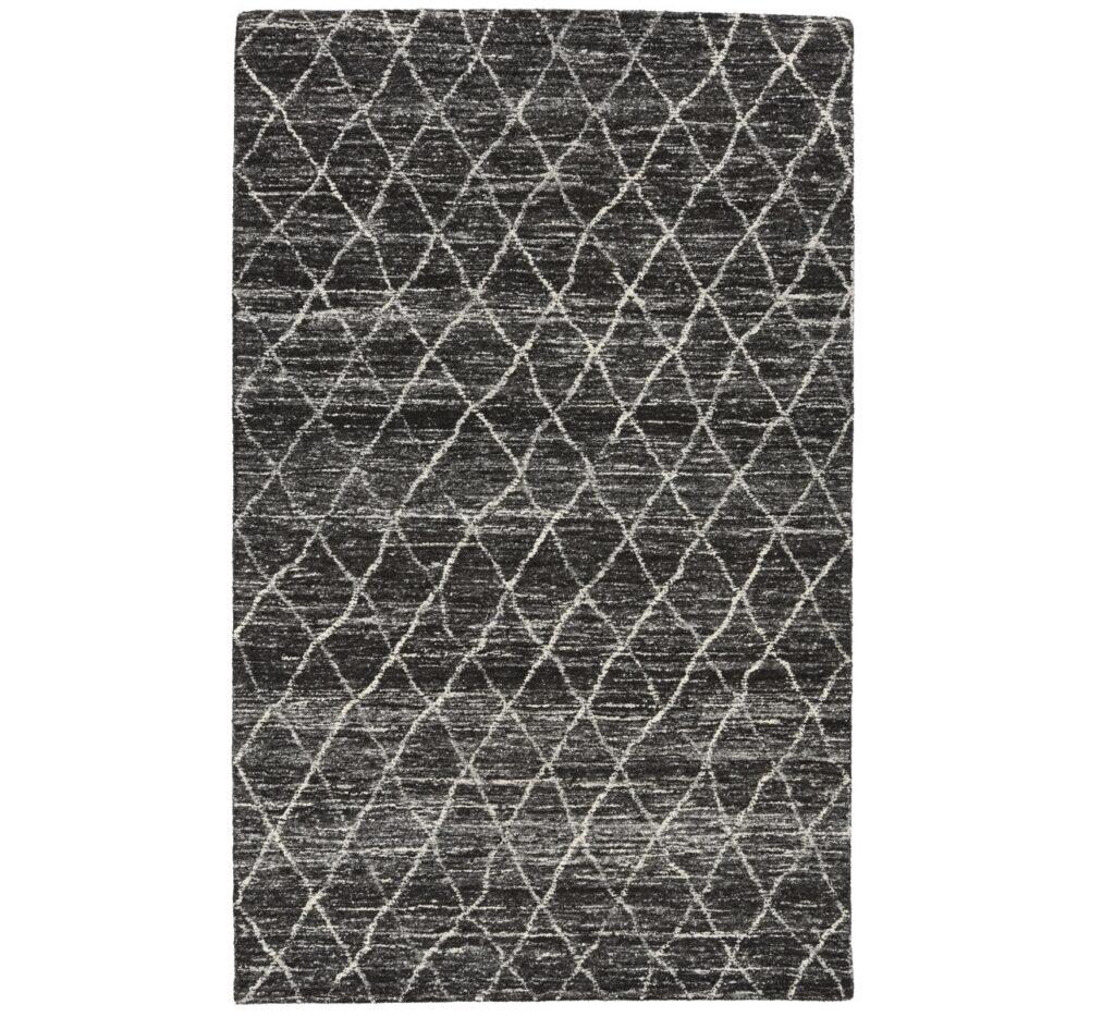 Hasting Charcoal Diamond Pattern Wool Rug