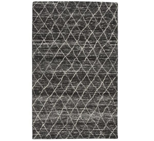 black diamond pattern wool rug