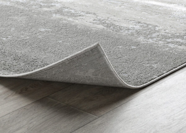 birch and silver abstract rug