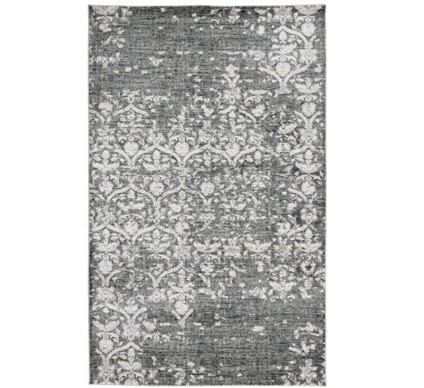 Black and grey patterned rug