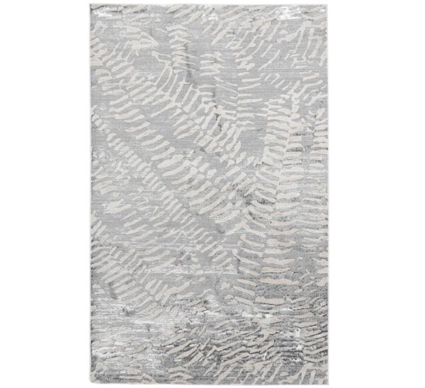 silver and birch rug with patterns