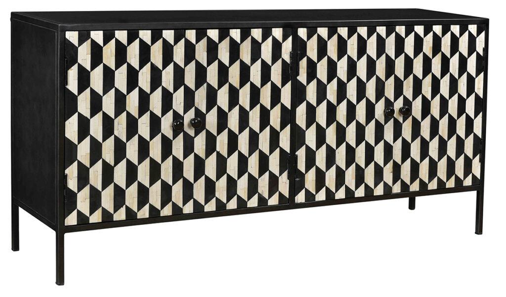 Black & White Bone Inlay Sideboard