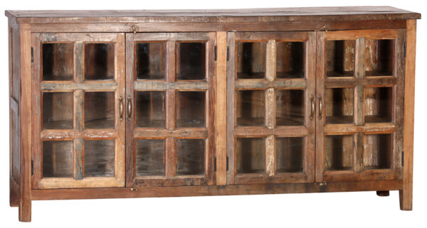 Tall sideboard with glass doors