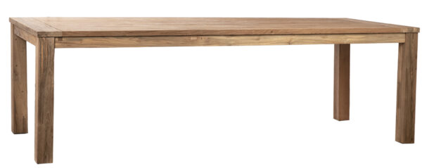Natural wood long dining table
