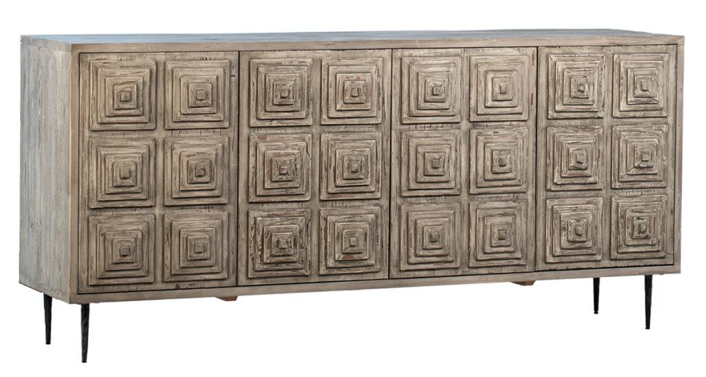 Bates Weathered Grey Wood Sideboard