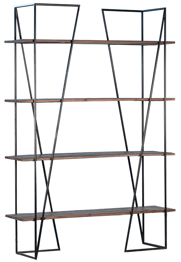 Najera Reclaimed Wood and Iron Bookcase