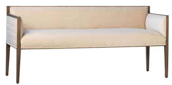 upholstered bench with wood frame