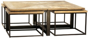 Drayton Square Coffee Table with Nesting Tables