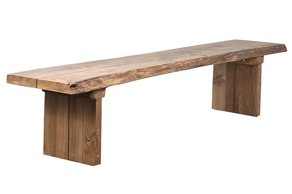 long teak bench