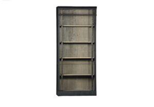 91″ Whitman Antique Black Bookcase
