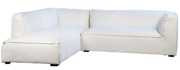 white slipcover sectional