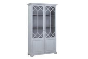 Alton White Wash Tall Wood Cabinet