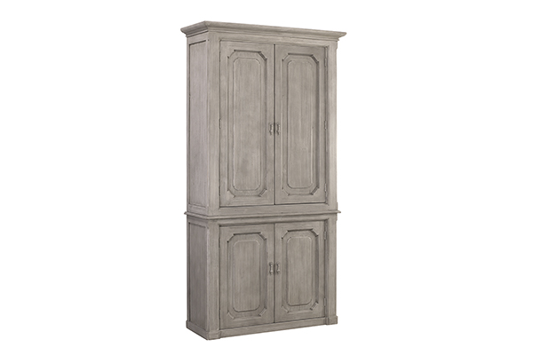 Kristy Grey White Tall Wood Cabinet