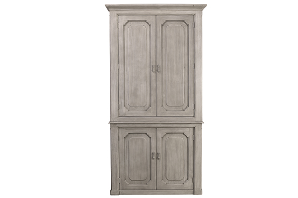 light grey wood cabinet front view
