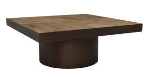 Gabriella Oak Wood Square Coffee Table